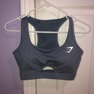 GymShark dark Gray Sports Bra